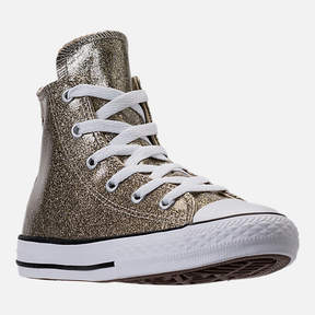 Converse Girls' Preschool Chuck Taylor High Top Glitter Casual Shoes