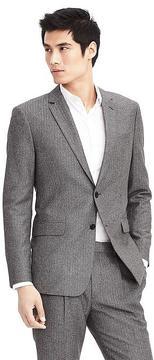 Banana Republic Standard Grey Wool Herringbone Suit Jacket