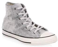 Converse Lace-Up Faux Fur Sneakers
