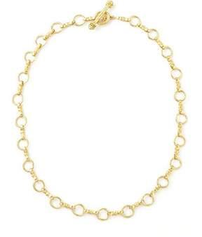 Elizabeth Locke Celtic Gold 19k Link Necklace, 21L