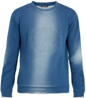 Balmain Logo-embossed cotton sweatshirt