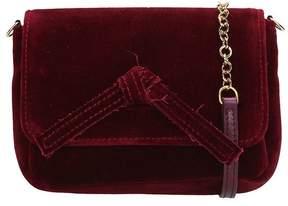 L'Autre Chose Burgundy Velvet Mini Bag