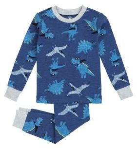 Petit Lem Little Boy's Two-Piece Dinosaurs Top and Pants Pajama Set