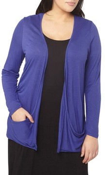 Evans Plus Size Women's Drapey Pocket Cardigan