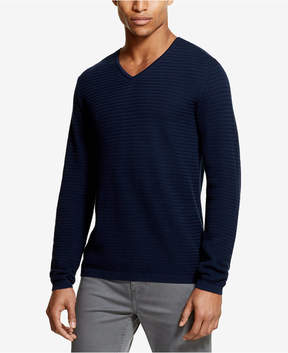 DKNY Men's Textured-Knit V-Neck Sweater, Created for Macy's