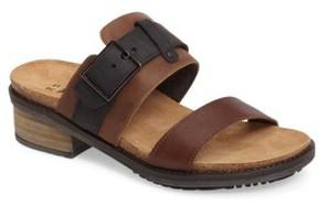 Naot Footwear Women's Flower Block Heel Slide Sandal