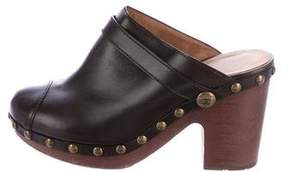 Chanel Leather Studded Clogs