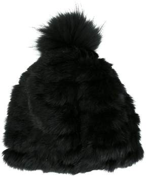 Yves Salomon marmot and rabbit fur beanie