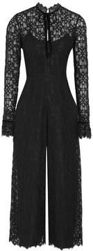 Temperley London Eclipse Velvet-trimmed Corded Lace Jumpsuit - Black