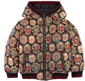 Dolce & Gabbana Sicilian badge print padded jacket