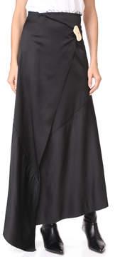 Awake Asymmetric Wrap Skirt