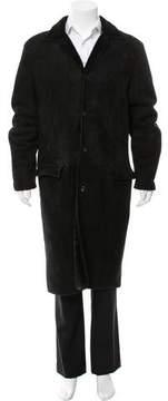 Gianni Versace Longline Shearling coat