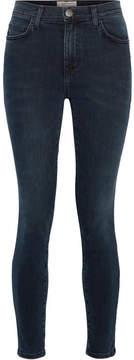 Current/Elliott The Super High Waist Stiletto Skinny Jeans - Dark denim