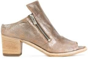 Officine Creative open toe cracked detail sandals
