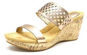 Giani Bernini Pasey Open Toe Synthetic Wedge Sandal.