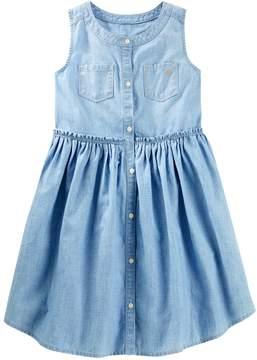 Osh Kosh Oshkosh Bgosh Girls 4-12 Chambray Dress