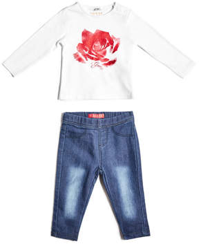 GUESS Long-Sleeve Tee and Jeggings Set (0-24M)