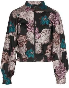 Co Metallic Floral-Brocade Jacket