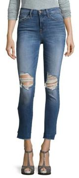 Flying Monkey High-Rise Distressed Denim Jeans