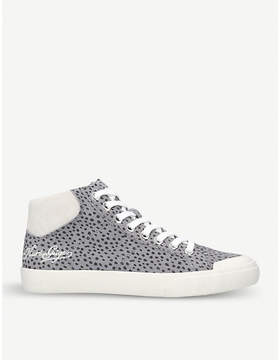 Kurt Geiger London Lenny dotted suede high-top trainers
