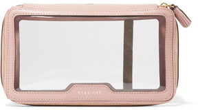 Anya Hindmarch - Inflight Leather-trimmed Perspex Cosmetics Case - Blush