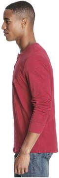 Joe Fresh Men's Essential Henley Tee, Dark Red (Size L)