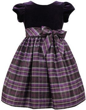 Sorbet Velvet & Plaid Taffeta Dress, Size 2-6X