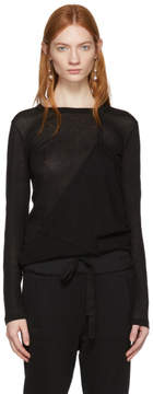 Ann Demeulemeester Black Long Sleeve Shiloh T-Shirt