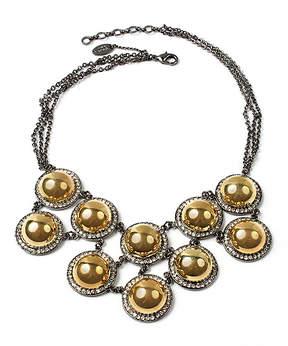 Amrita Singh Gunmetal & Goldtone Vanessa Bib Necklace