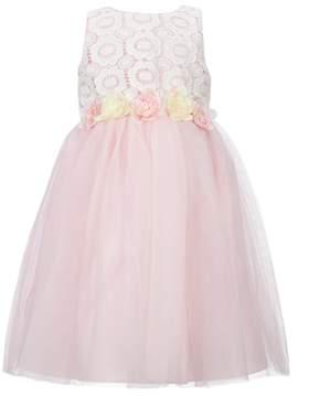 Laura Ashley London Little Girls 2T-6X Tulle Floral-Applique Dress