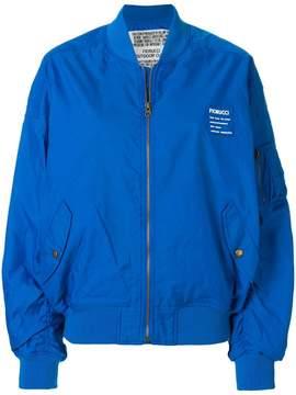Fiorucci logo print bomber jacket
