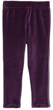 Tea Collection Velour Track Pants (Baby Girls)