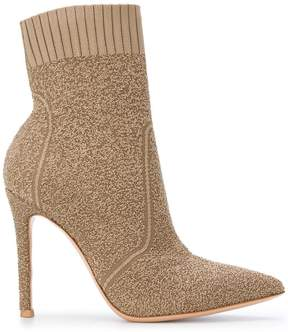 Gianvito Rossi Fiona bouclé-knit boots