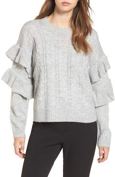 WAYF Sophie Ruffle Sleeve Sweater