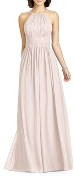Dessy Collection Women's Lux Chiffon Halter Gown
