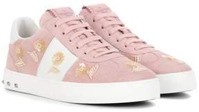 Valentino Valantino Garavani embellished suede sneakers