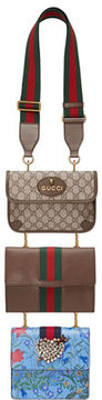 Gucci Totem Three-Piece Shoulder Bag - BLUE/BROWN/ GREEN - STYLE