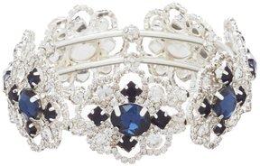 Cezanne Rhinestone Flower Link Stretch Bracelet