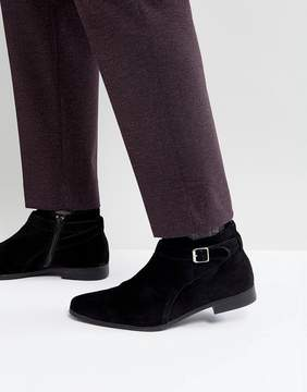 Zign Shoes Suede Buckle Boots
