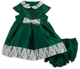 Laura Ashley Baby Girl's Two-Piece Floral Lace Dress and Elasticized Bloomers Set