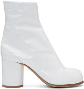 Maison Margiela White Patent Tabi Boots