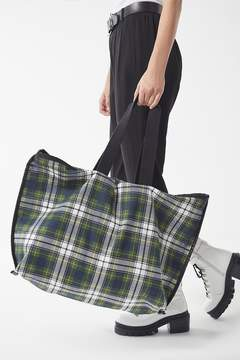 Urban Outfitters Reversible Plaid Oversized Tote Bag