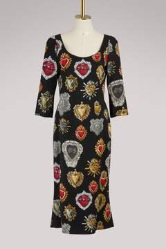 Dolce & Gabbana Hearts print midi dress