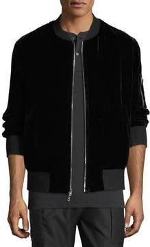 Ovadia & Sons OS-1 Reversible Velvet/Satin Bomber Jacket