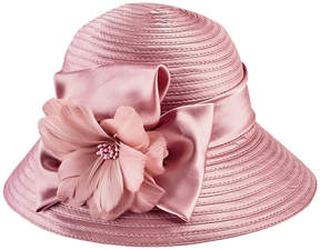 San Diego Hat Company Satin Cloche With Flower Trim