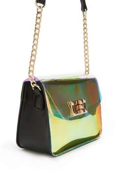 Forever 21 Faux Leather Curb Chain Crossbody