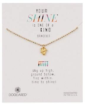 Dogeared 14K Gold Vermeil Your Shine Wrapped Heart Bracelet