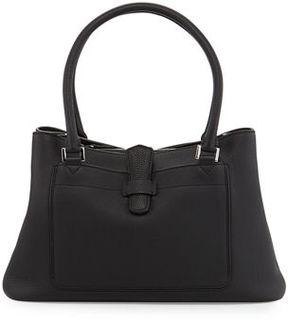 Loro Piana Bellevue Media Leather Tote Bag