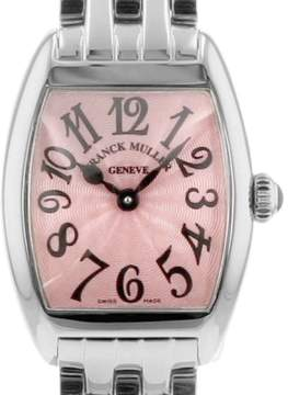 Franck Muller Cintree Curvex 2252QZ(SF3-238) Stainless Steel Pink Dial 22mm Womens Watch