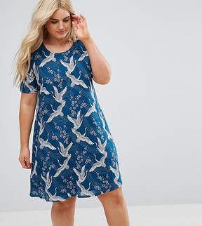 Alice & You Shift Dress In Bird Print